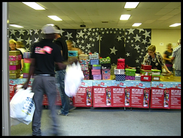 Just a fraction of the boxes collected in Ranburg