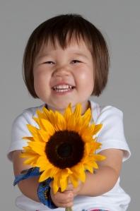 Lulu Chowles Sunflowers and blue bandana 13