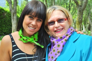 Tarryn Corlett (CEO of The Sunflower Fund) and Patron of The Fund, Premier Helen Zille