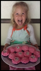 She was very very proud of the end result.   Cancakes that SHE made!